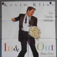 Cine: IN & OUT,KEVIN KLINE CARTEL DE CINE ORIGINAL 70X100 APROX (3650). Lote 36112731