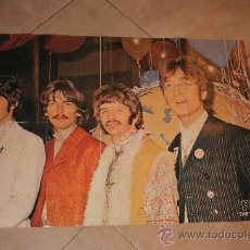 Cine: POSTE DE POP THE BEATLES MIDE 83X56 ORIGINAL DE EPOCA AÑO 1960-1970. Lote 36129888