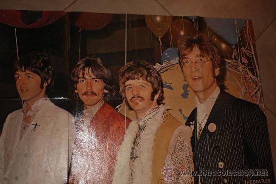 Cine: POSTE DE POP THE BEATLES MIDE 83X56 ORIGINAL DE EPOCA AÑO 1960-1970 - Foto 3 - 36129888