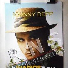 Cine: CARTEL - LOS DIARIOS DEL RON - JOHNNY DEPP - PELÍCULA CINE PÓSTER - FOTO DE ACTOR JOHNY ARTE DISEÑO. Lote 36131658