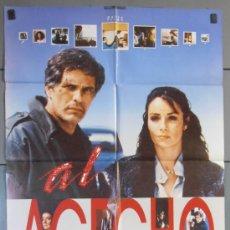 Cine: AL ACECHO,AMPARO MUÑOZ CARTEL DE CINE ORIGINAL 70X100 APROX (4053). Lote 36136600