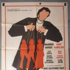 Cine: LAS TRES PERFECTAS CASADAS, CARTEL DE CINE ORIGINAL 70X100 APROX (9114). Lote 36248974