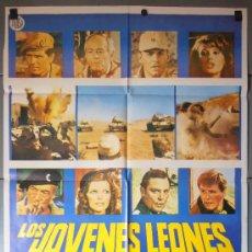 Cine: LOS JOVENES LEONES, CARTEL DE CINE ORIGINAL 70X100 APROX (9221). Lote 36272473