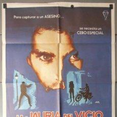 Cinema: LA JAURIA DEL VICIO, CARTEL DE CINE ORIGINAL 70X100 APROX (9235). Lote 36272511