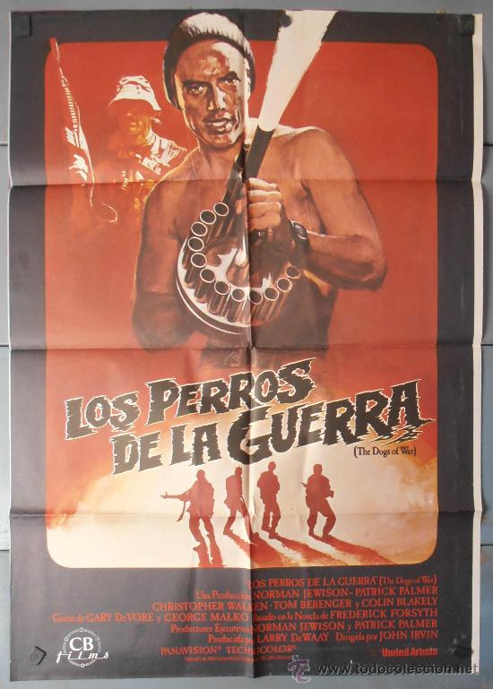 LOS PERROS DE LA GUERRA,TOM BERENGER CARTEL DE CINE ORIGINAL 70X100 APROX (9244) (Cine - Posters y Carteles - Bélicas)