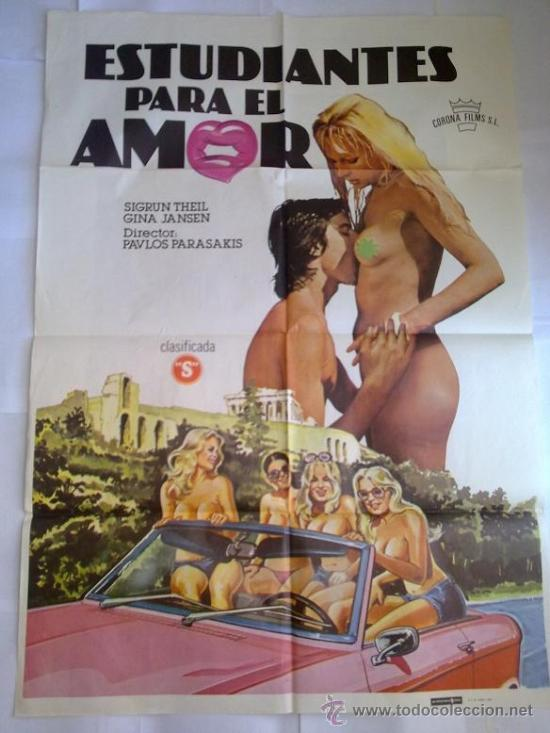 PÓSTER ORIGINAL ESTUDIANTES PARA EL AMOR (Cine - Posters y Carteles - Comedia)