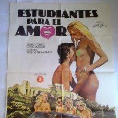 Cine: PÓSTER ORIGINAL ESTUDIANTES PARA EL AMOR . Lote 36257572