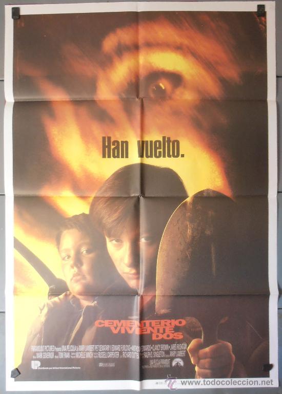 CEMENTERIO VIVIENTE DOS, CARTEL DE CINE ORIGINAL 70X100 APROX (4212) (Cine - Posters y Carteles - Terror)
