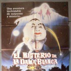 Cine: EL MISTERIO DE LA DAMA BLANCA, CARTEL DE CINE ORIGINAL 70X100 APROX (4231). Lote 36344685