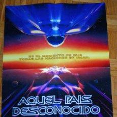 Cine: POSTER DE LA PELICULA AQUEL PAIS DESCONOCIDO STAR TREK VI MEDIDAS 56X42 PRACTICAMENTE NUEVO. Lote 36354932
