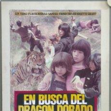Cine: RL26 EN BUSCA DEL DRAGON DORADO JESUS FRANCO MAQUETA FOTOMONTAJE CARTEL ORIGINAL HERMIDA. Lote 36458427
