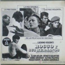 Cine: RL32 ROCCO Y SUS HERMANOS LUCHINO VISCONTI ALAIN DELON MAQUETA FOTOMONTAJE ORIGINAL. Lote 36459657