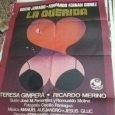 Cine: LA QUERIDA. ROCIO JURADO. FERNANDO FERNAN GOMEZ CINE GRAN TAMAÑO 100 X 70 . Lote 36426818
