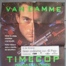 Cine: TIMECOP,VAN DAMME CARTEL DE CINE ORIGINAL 70X100 APROX (4938). Lote 36436359