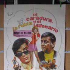 Cine: LA RUBIA EL CARADURA Y EL MILLONARIO. Lote 36553905