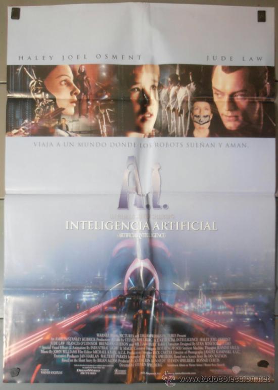 INTELIGENCIA ARTIFICIAL , CARTEL DE CINE ORIGINAL 70X100 APROX (5286) (Cine - Posters y Carteles - Ciencia Ficción)