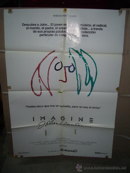 IMAGINE JOHN LENON POSTER ORIGINAL 70X100 (Cine - Posters y Carteles - Documentales)