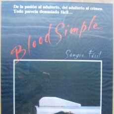 Cine: POSTER ORIGINAL ESPAÑOL - SANGRE FÁCIL -JOEL COEN, ETHAN COEN, JOHN GETZ, FRANCES MCDORMAND. Lote 36569221