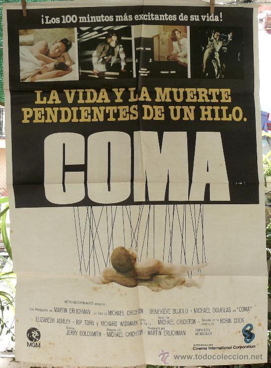 COMA - POSTER ORIGINAL DE LA EPOCA (Cine - Posters y Carteles - Suspense)