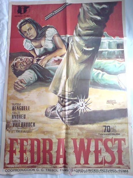 PÓSTER ORIGINAL FEDRA WEST (AÑO 1968) (Cine - Posters y Carteles - Acción)