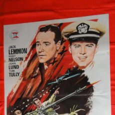 Cinéma: COMANDO DEL PACIFICO, POSTER ORIGINAL 70X100, AÑOS 60, DE JANO, JACK LEMMON, EXCELENTE ESTADO. Lote 37463844