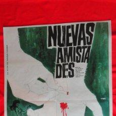 Cine: NUEVAS AMISTADES, POSTER ORIGINAL 70X100, 1963, MARIA ANDERSEN ELENA BALDUQUE. Lote 36630502