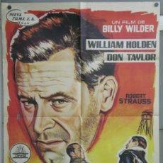 Cine: RN76 TRAIDOR EN EL INFIERNO WILLIAM HOLDEN BILLY WILDER POSTER ORIGINAL 70X100 ESTRENO. Lote 36701166