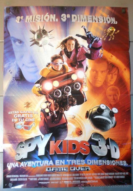 SPY KIDS 3D, CARTEL DE CINE ORIGINAL 70X100 APROX (9927) (Cine - Posters y Carteles - Infantil)