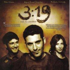 Cine: CARTEL PELICULA CINE 3:19 NADA ES CASUALIDAD MIGUEL ANGEL SILVESTRE 21X30. Lote 36732356