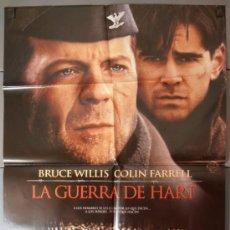 Cine: LA GUERRA DE HART,BRUCE WILLIS CARTEL DE CINE ORIGINAL 70X100 APROX (6455). Lote 36808958