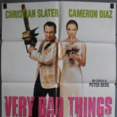 Cine: VERY BAD THINGS,CAMERON DIAZ CARTEL DE CINE ORIGINAL 70X100 APROX (6543). Lote 36830932