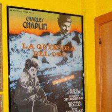 Cine: LA QUIMERA DEL ORO - CHARLES CHAPLIN - MACK SWAIN - 100X70 CM. - CINE MUDO - REESTRENO AÑOS 1980 .. Lote 36905296