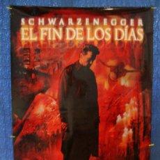Cine: POSTER ORIGINAL ARNOLD SCHWARZENEG DE LA PELICULA EL FIN DE LOS DIAS AÑO 1999, 700MM X 1000MM APROX.. Lote 36917425