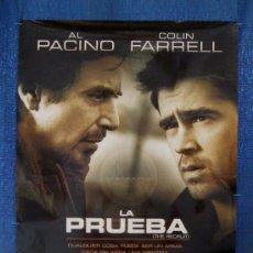 Cine: POSTER ORIGINAL DE LA PELICULA LA PRUEBA AÑO 2003, 700MM X 1000MM APROX.. Lote 36917678