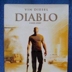 Cine: POSTER ORIGINAL DE LA PELICULA, DIABLO, AÑO 2003, 700MM X 1000MM APROX.. Lote 36917720