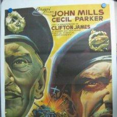 Cine: YO FUI EL DOBLE DE MONTGOMERY - JOHN MILLS, CECIL PARKER - LITOGRAFIA. Lote 36923210