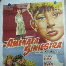 Cine: AMENAZA SINIESTRA - ANDREW RAY, KATLEN RYAN, KENETH MORE - LITOGRAFIA - AÑO 1961. Lote 36924939
