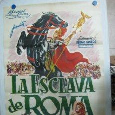Cine: LA ESCLAVA DE ROMA - MARIO PETRI, GUY MADISON, ROSSANA PODESTA - LITOGRAFIA. Lote 36937975