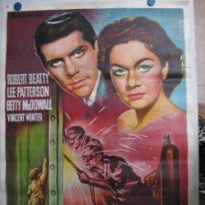 Cine: TUMBA DE ACERO - ROBERT BEATTY, LEE PATTERSON - LITOGRAFIA - AÑO 1959 - SOLIGO. Lote 36938176