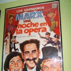 Cine: UNA NOCHE EN LA OPERA - SAM WOOD - HERMANOS MARX - DIBUJO - 100X70 CM - 1973 - REESTRENO EN ESPAÑA. . Lote 36939503