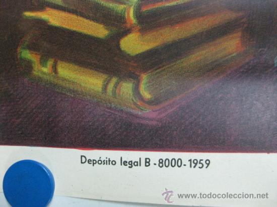 Cine: TUMBA DE ACERO - ROBERT BEATTY, LEE PATTERSON - LITOGRAFIA - AÑO 1959 - SOLIGO - Foto 3 - 36938176