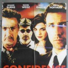 Cine: CONFIDENCE,CARTEL DE CINE ORIGINAL 70X100 CM CON ALGUN DEFECTO A 1€,VER FOTO (9669). Lote 36985530