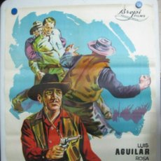 Cine: LA MASCARA DE LA MUERTE - LUIS AGUILAR, ROSA DE CASTILLA - LITOGRAFIA - AÑO 1965. Lote 36989739
