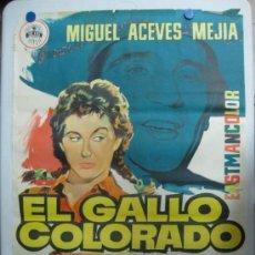 Cine: EL GALLO COLORADO - MIGUEL ACEVES MEJIA, ROSITA ARENAS - LITOGRAFIA - AÑO 1959. Lote 36989871