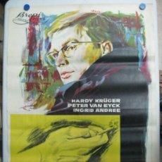 Cine: EL RESTO ES SILENCIO - HARDY KRÜGER, PETER VAN EYCK - LITOGRAFIA - AÑO 1965. Lote 36990088