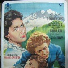 Cine: CORAZON DIVIDIDO - CORNELL BORCHERS, YVONNE MITCHELL, ARMIN DAHLEN - LITOGRAFIA. Lote 36990321