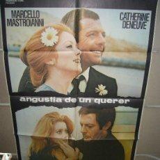 Cinema: ANGUSTIA DE UN QUERER MARCELLO MASTROIANNI CATHERINE DENEUVE POSTER ORIGINAL 70X100 YY(426). Lote 37001551