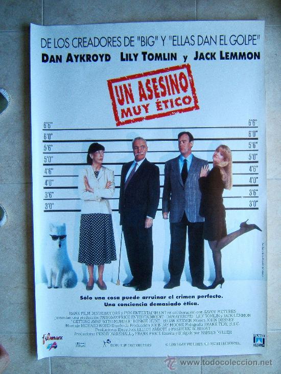 UNA ASESINO MUY ETICO-HARVEY MILLER-DAN AYKROYD-JACK LEMMON-POSTER SIN DOBLECES-1997-ESTRENO. (Cine - Posters y Carteles - Suspense)