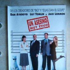 Cine: UNA ASESINO MUY ETICO-HARVEY MILLER-DAN AYKROYD-JACK LEMMON-POSTER SIN DOBLECES-1997-ESTRENO.. Lote 37034080