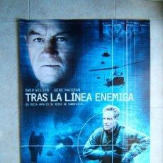 Cine: TRAS LA LINEA ENEMIGA-JOHN MOORE-OWEN WILSON-GENE HACKMAN-POSTER SIN DOBLECES-98X68 CM-2001-ESTRENO.. Lote 37034180
